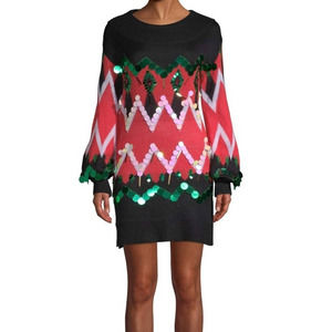 Ugly Christmas Sequin Sweater Tunic Size 1X
